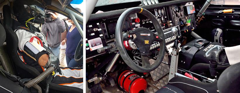 2 mini manches comme poste de pilotage pour Philippe Croizon au Dakar 2017 HAFA