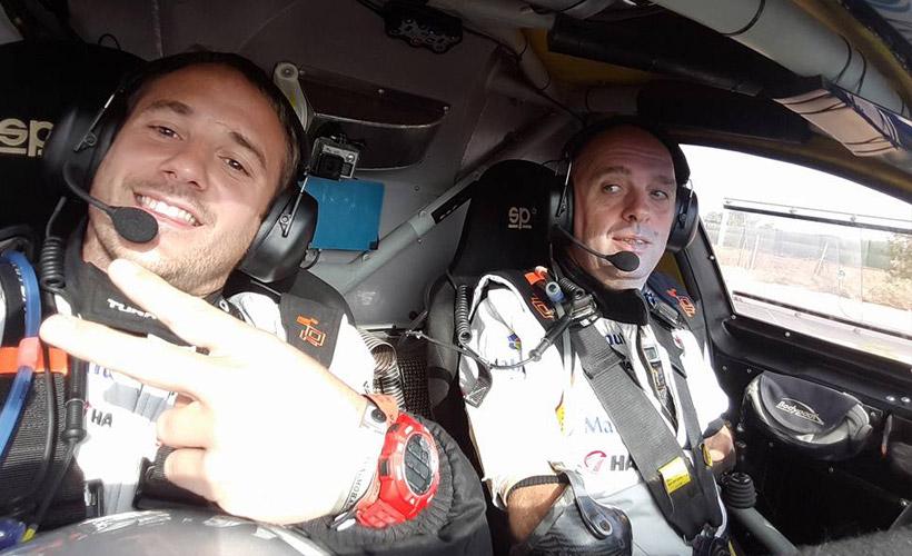 Cédric Duplé, copilote de Philippe Croizon sur le Dakar 2017