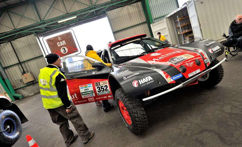 Freddy Valade, mécanicien complice de Philippe Croizon sur le Dakar 2017