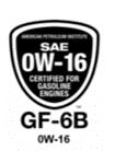 écusson 0W16 / ILSAC GF-6B sur le marché américain